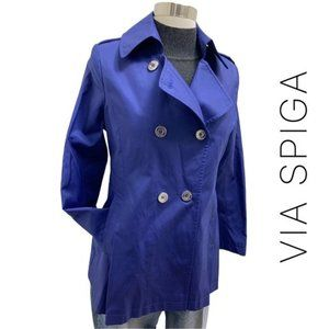 Via Spiga Water Resistant Double Breasted Trench